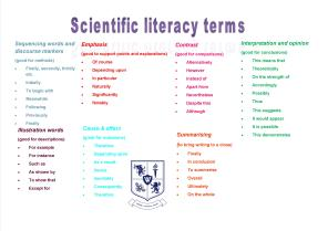 BLOGLiteracy mat science